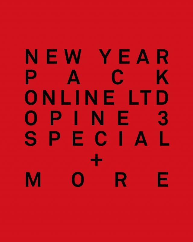 画像1: NEW YEAR PACK OPINE 3 SPECIAL+MORE (BLACK LTD+1足+サコッシュ) Men's / Women's [26,364+TAX]