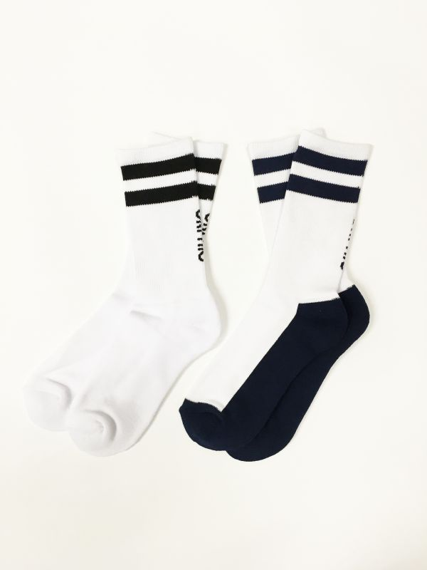 画像3: DUAL SOCKS (White/Navy) [Mens/Womens] [1,600+TAX]