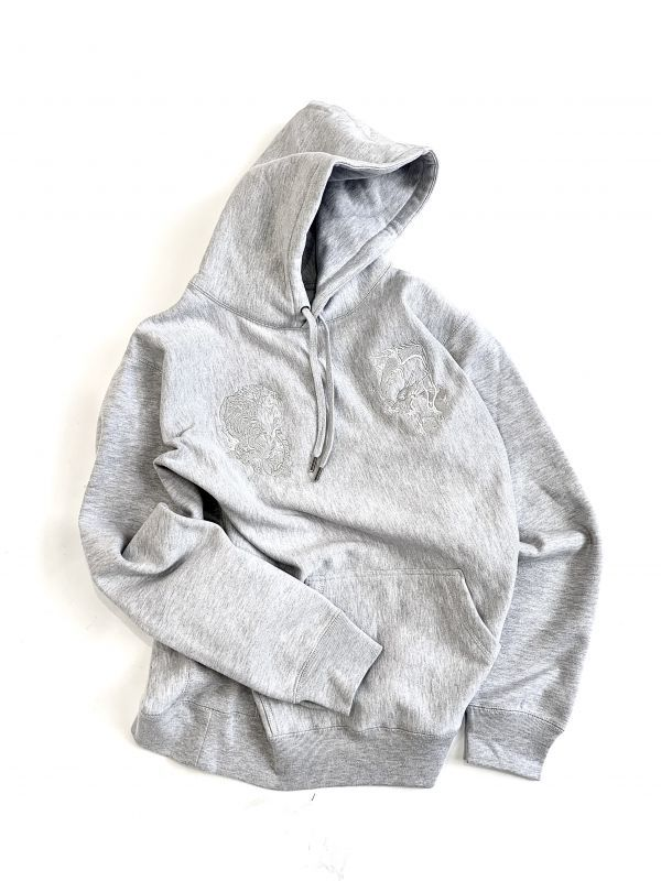 画像1: T/D 13.5oz. EMBROIDERY PULLOVER (GRAY HEATHER) [23,500+TAX]